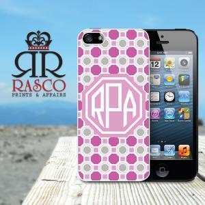 Monogrammed iPhone Case, Personaliz..