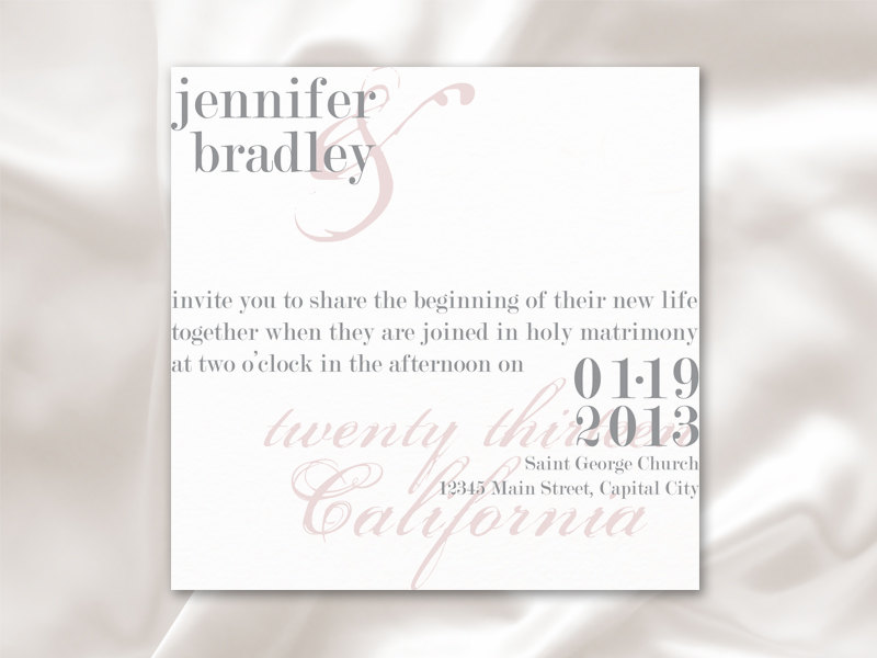 Modern Chic Wedding Invitation