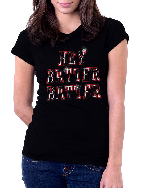 Hey Batter Batter Baseball Rhinestone Shirt