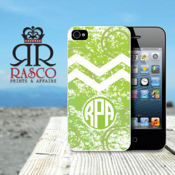 iPhone 4 Case, iPhone 4s Case, Personalized iPhone Case, Monogram iPhone Case, Chevron iPhone Case, Green iPhone Case (85)