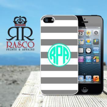 iPhone 5 Case, Personalized iPhone Case, Monogram iPhone Case, Stripe iPhone Case, Ornate iPhone Case, Green iPhone Case (84)