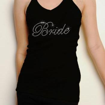 Bride Rhinestone Shirt Tank Top