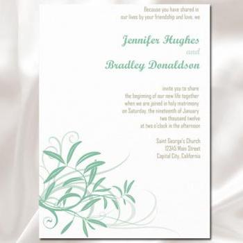 Soft Wind Flower Wedding Invitation