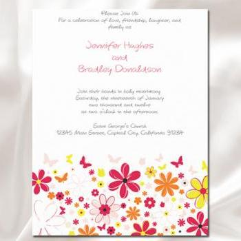 Spring Bloom Flower Wedding Invitation